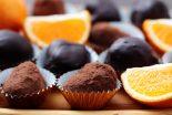 trufas de chocolate y naranja