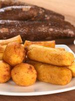 Receta de yuca rellena con carne molida