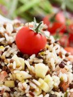 Receta de ensalada de lentejas y arroz