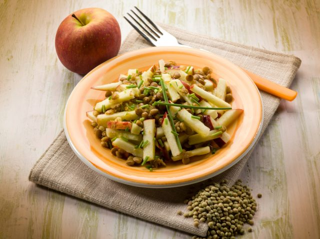 Receta de ensalada de lentejas con manzana