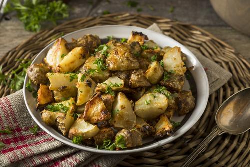 Receta de alcachofas al horno con patatas