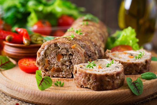 Receta de asado de carne relleno