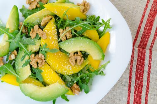 Receta de ensalada de aguacate y mango