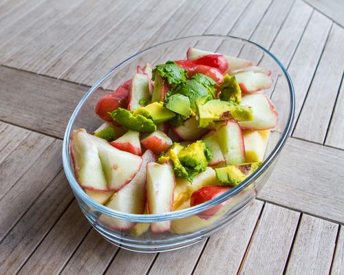 Receta de ensalada de aguacate y manzana