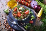 ensalada de lentejas vegetariana