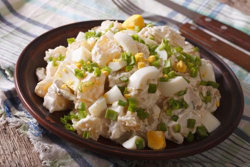Receta de ensalada de patata americana