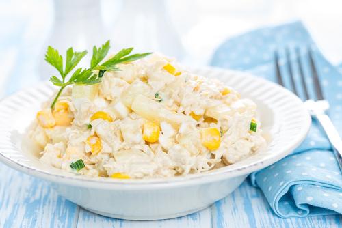 Receta de ensalada de patata con pollo