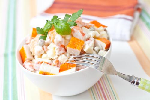 Receta de ensalada de patata y gambas