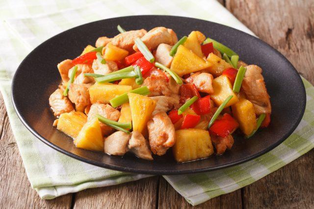 Receta de ensalada de pollo con piña