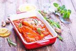 merluza en salsa de tomate al horno