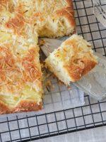 Receta de pastel de yuca y coco