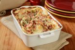 patatas al horno gratinadas con jamon y queso