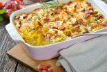patatas al horno gratinadas con queso y bacon