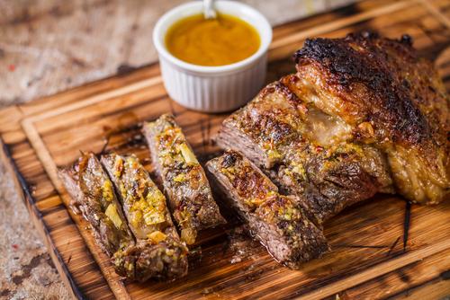 Receta de roast beef con salsa de mostaza