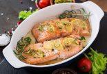 salmon marinado al horno