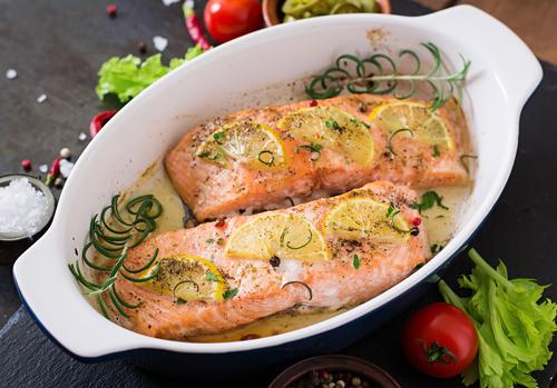 Receta de salmón marinado al horno