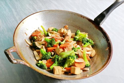 Receta de tofu a la plancha con verduras