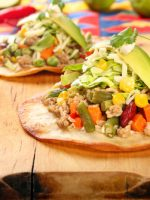 Receta de tostadas mexicanas de carne