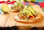 tostadas mexicanas de carne