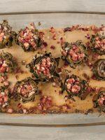 Receta de alcachofas con jamón y gambas