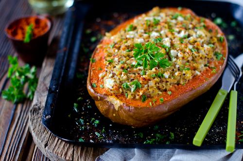 Receta de calabaza al horno con quinoa