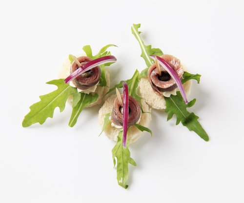 Receta de canapés de anchoas y boquerones