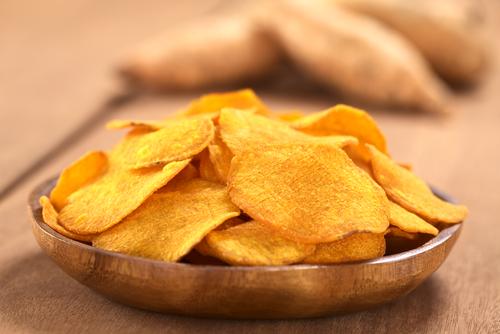Receta de chips de boniato al horno