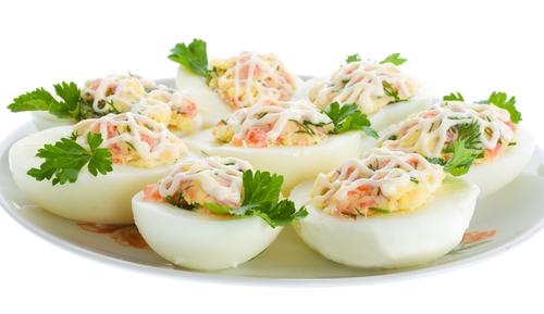 Receta De Huevos De Codorniz Rellenos Con Salmón Unareceta Com