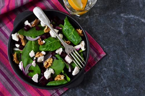 Receta de ensalada templada de espinacas