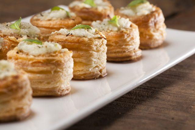 Receta de volovanes de jamón y queso
