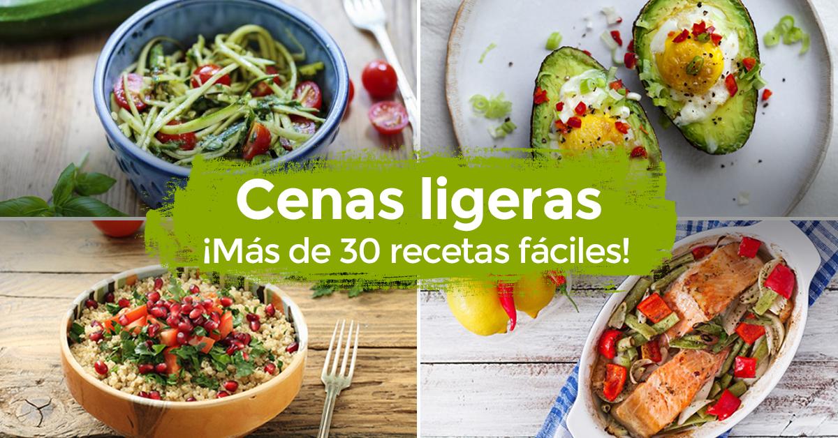 30 Cenas ligeras y ricas para perder peso rápido