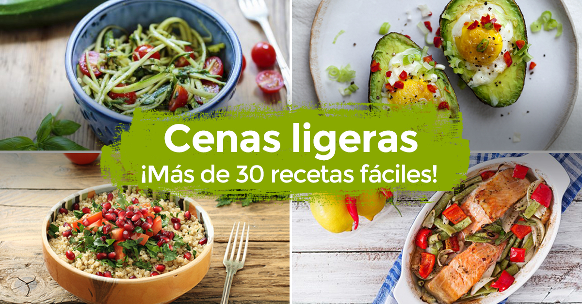 30 cenas ligeras y ricas para perder peso r pido for Opciones de cenas ligeras