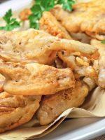 Receta de alcachofas rebozadas con jamón serrano