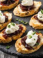 Receta de canapés de paté y queso