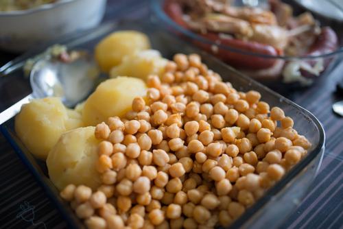 Receta de cocido gallego con garbanzos