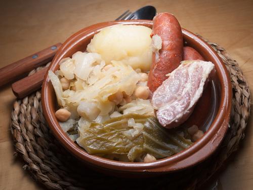 Receta de cocido gallego con repollo