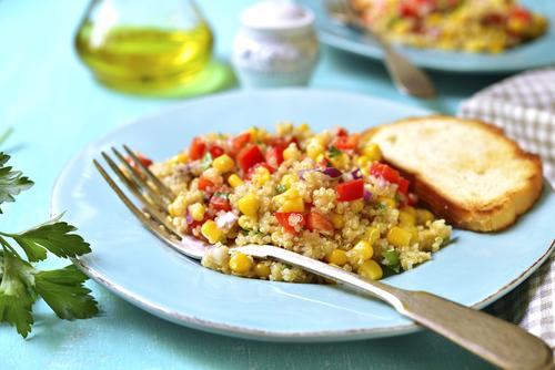 Receta de ensalada de quinoa vegana