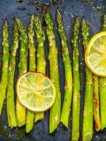 Receta de espárragos al horno con limón
