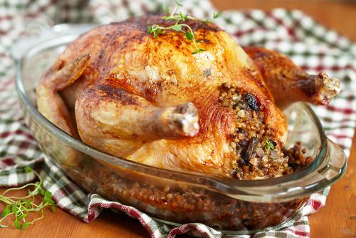 Receta de pavo relleno de pollo