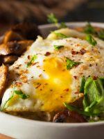 Receta de setas a la plancha con huevo