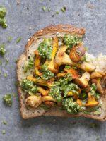 Receta de setas a la plancha con salsa verde