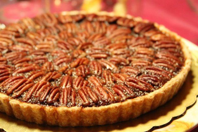 Receta de tarta de nueces y chocolate