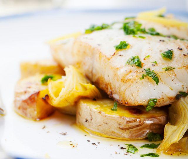 Receta de bacalao al horno con verduras