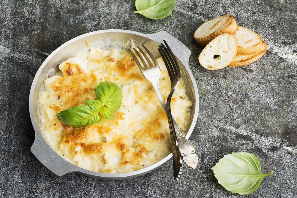 Receta de bacalao al horno gratinado con nata for Como cocinar bacalao al horno