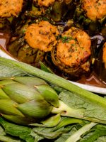 Receta de alcachofas rellenas de carne picada