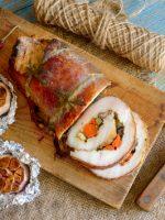 Receta de lomo relleno de verduras