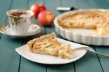 pie de manzana y crema pastelera