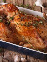 Receta de pollo al horno con dátiles