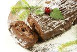 tronco de Navidad relleno de crema de castanas