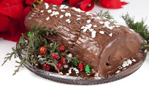 Receta de tronco de Navidad sin gluten